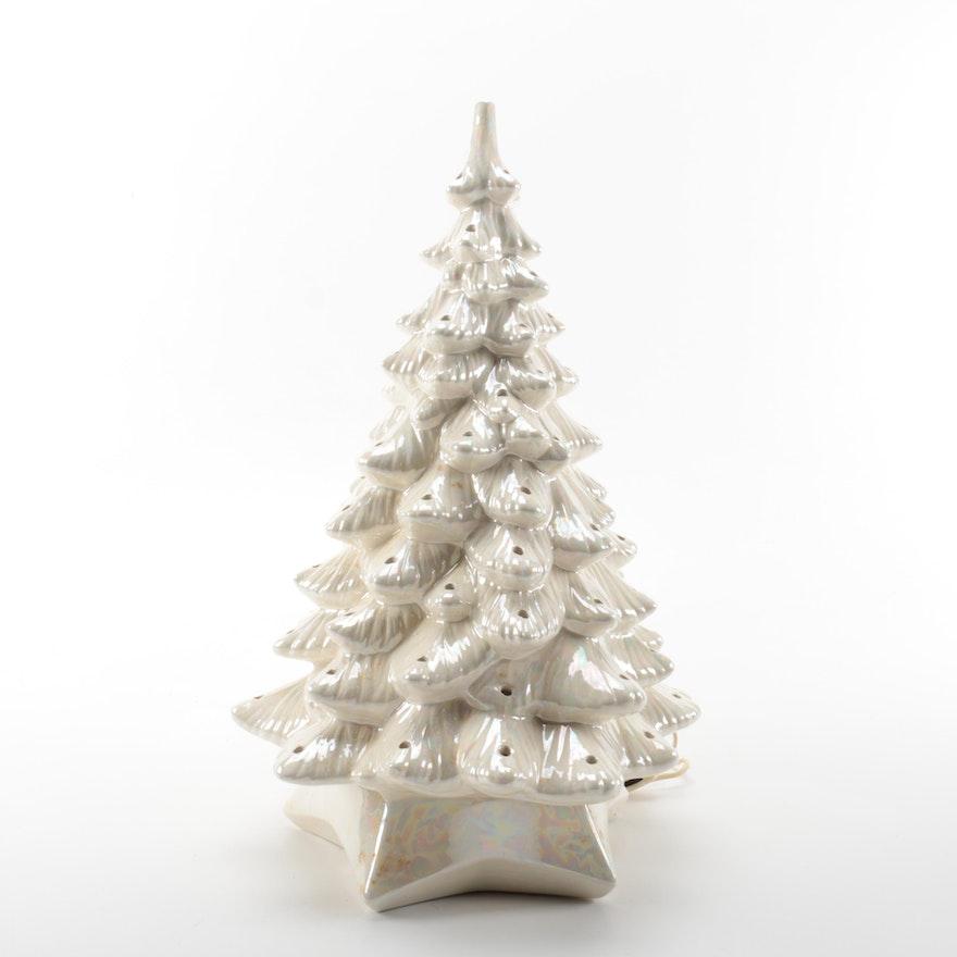 White Ceramic Christmas Tree.White Ceramic Christmas Tree Decor