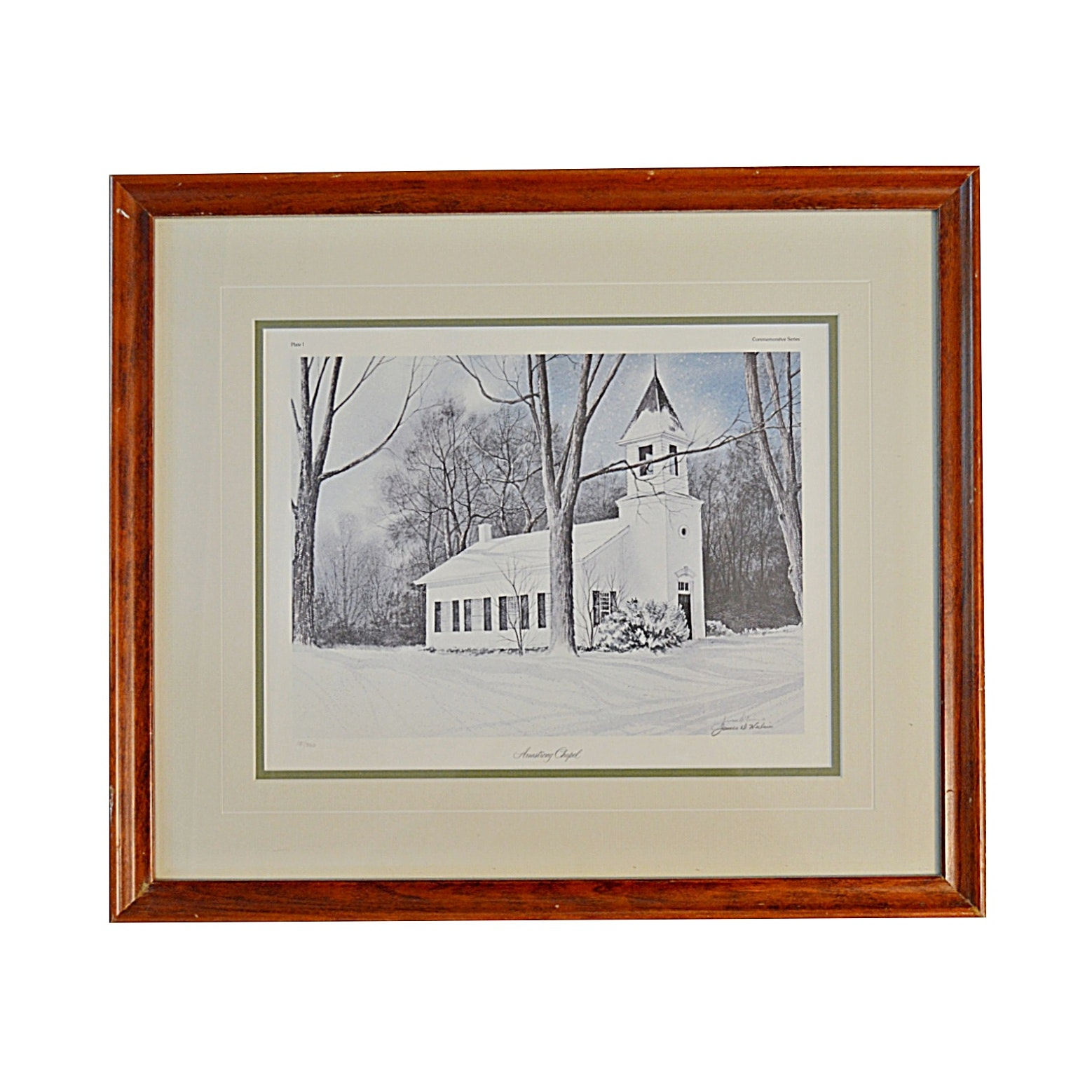 """James Werline Signed Limited Edition Print """"Armstrong Chapel"""""""