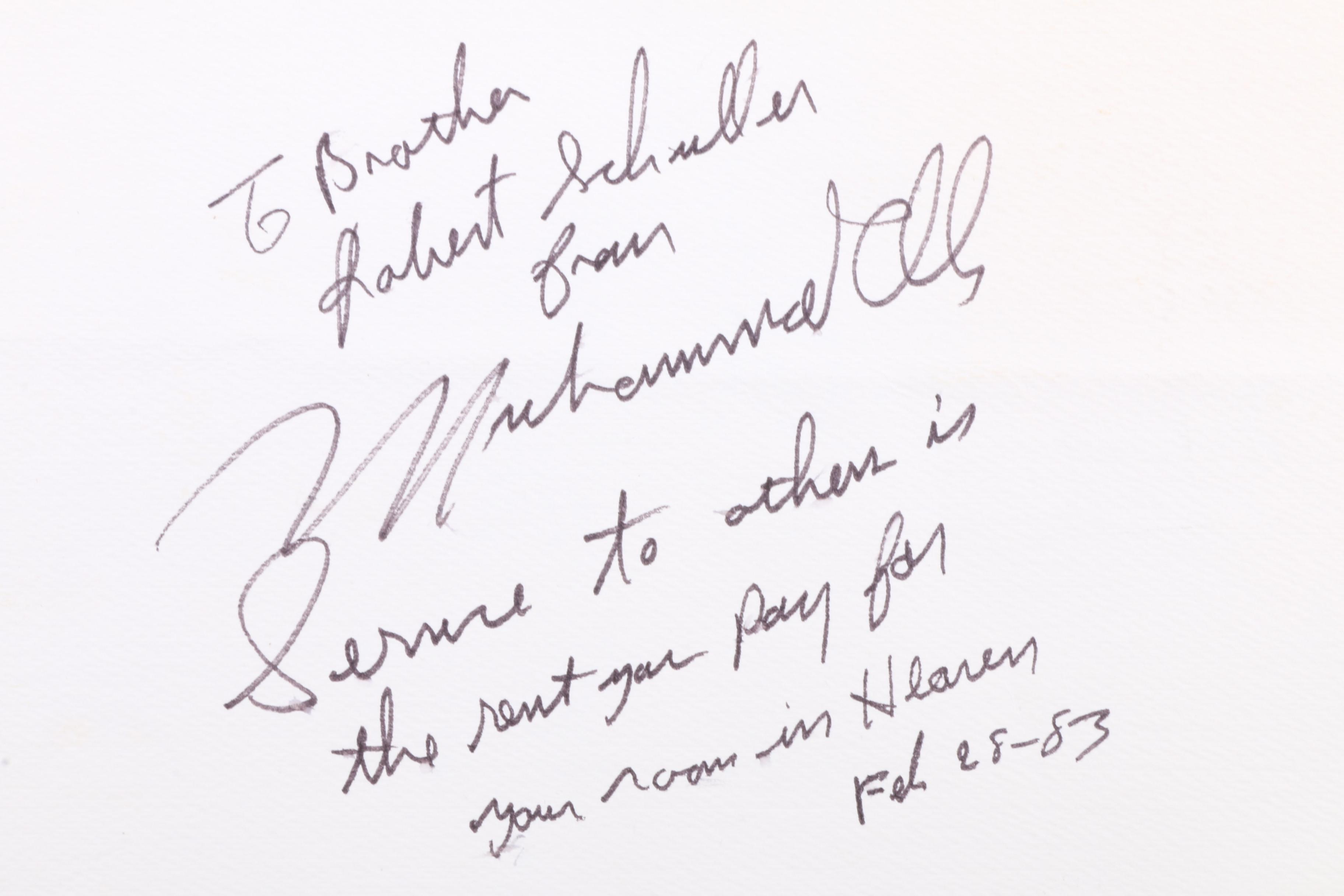 Muhammad Ali Signed 1983 Program Honoring Her Majesty Queen Elizabeth I