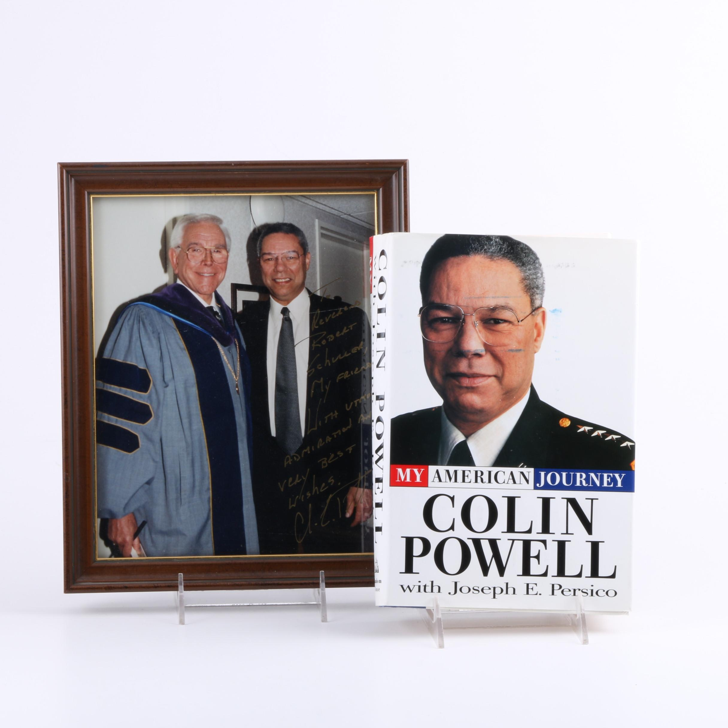"""Signed 1995 Book """"My American Journey"""" by Colin Powell"""