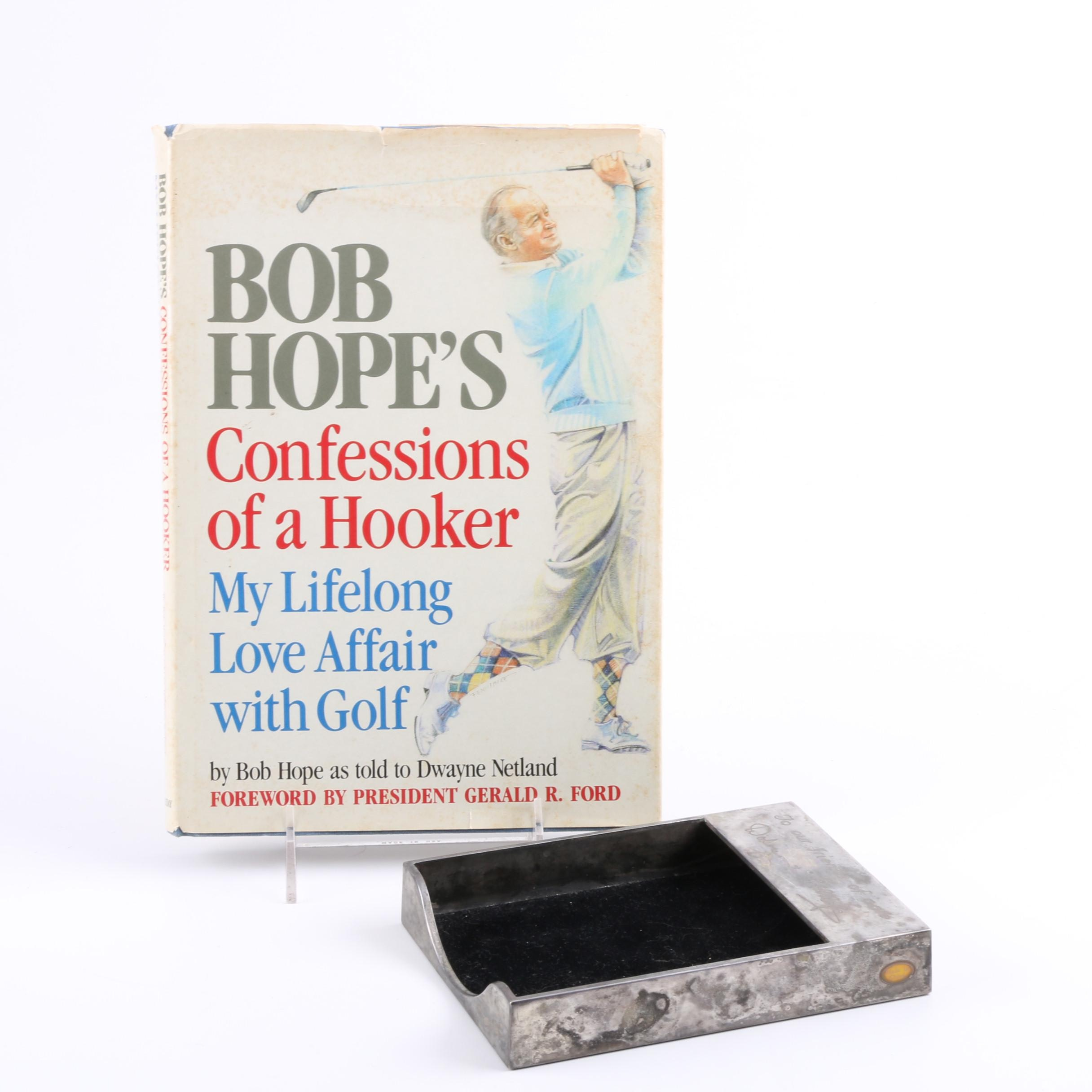 "Signed 1985 ""Confessions of a Hooker"" by Bob Hope"