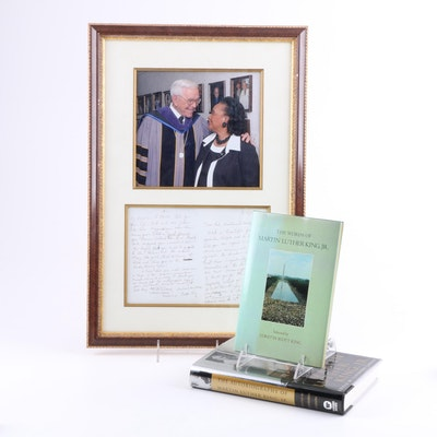 Coretta Scott King Ephemera and Inscribed Book