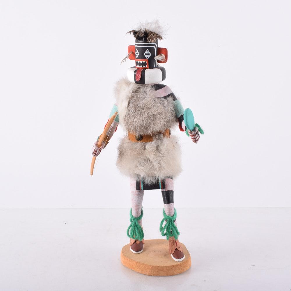 """Joel Nahson Hoya Kachina Doll """"Left-Handed Hunter"""""""