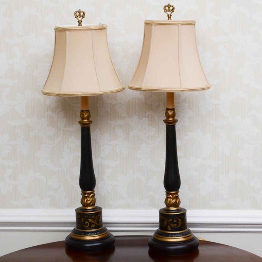 Black And Gold Bradburn Gallery Table Lamp Pair Ebth