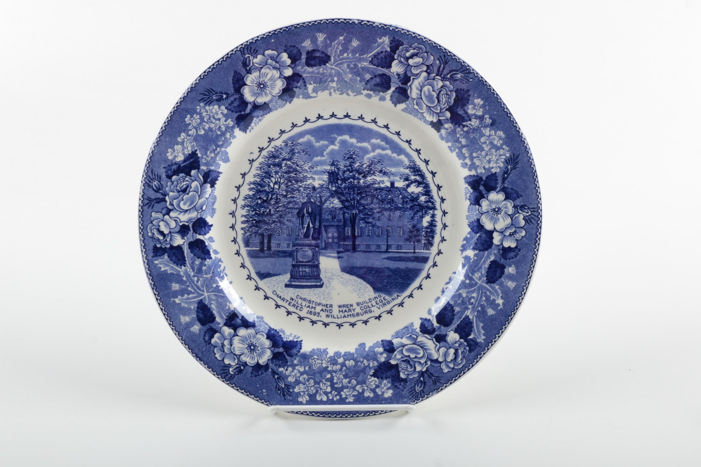 Decorative blue and white plates inculding meissen quot
