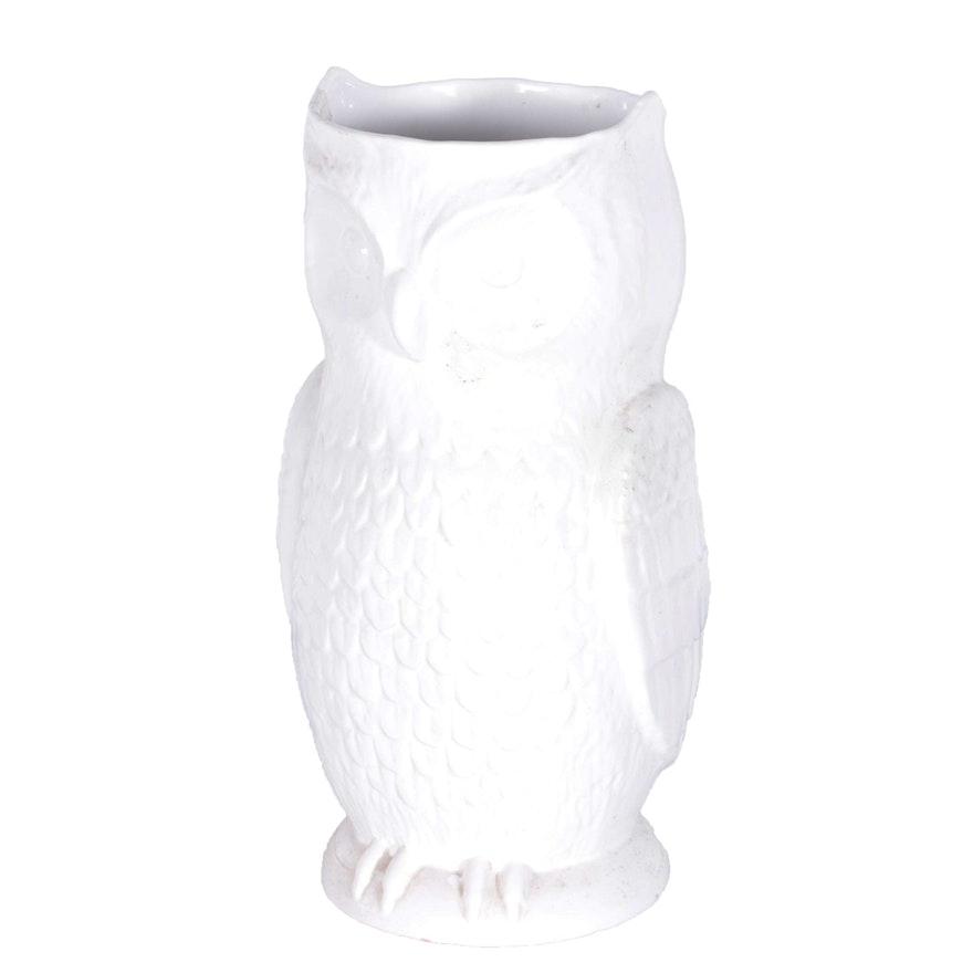 White Owl Umbrella Stand Ebth