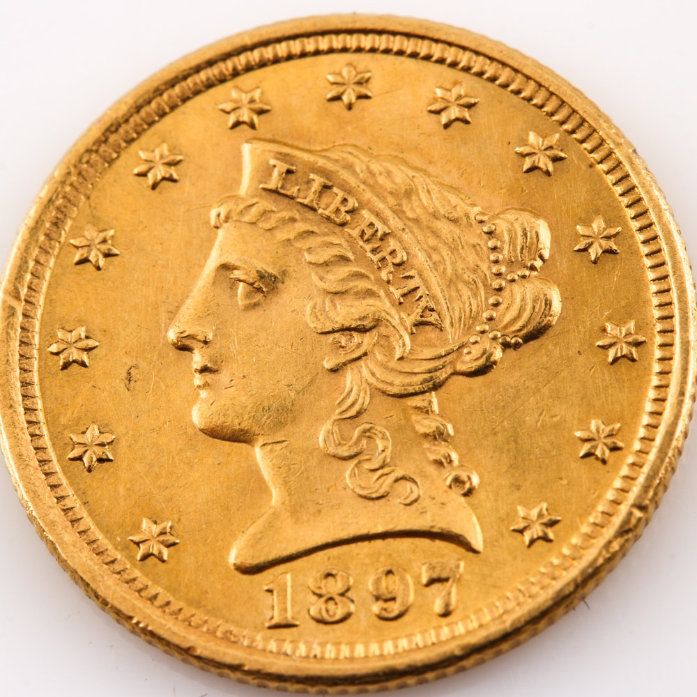 Scarce Date 1897 Liberty Head $2 1/2 Gold Coin