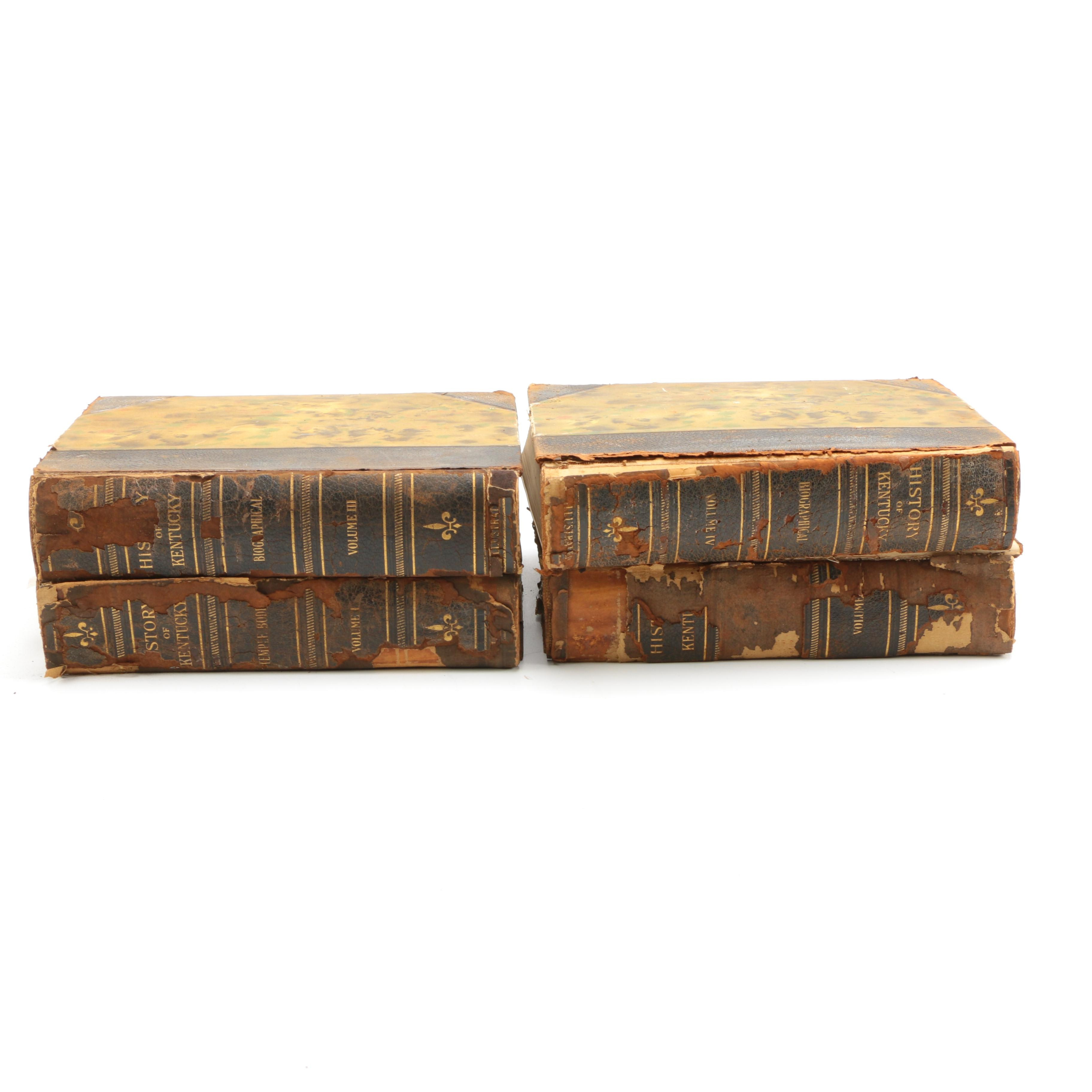 """1928 Four Volume Set """"History of Kentucky"""" by Temple Bodley"""