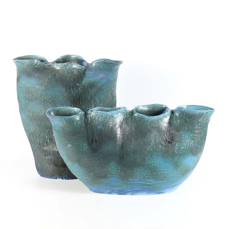 Large Ceramic Trunk Vases From Global Views Ebth