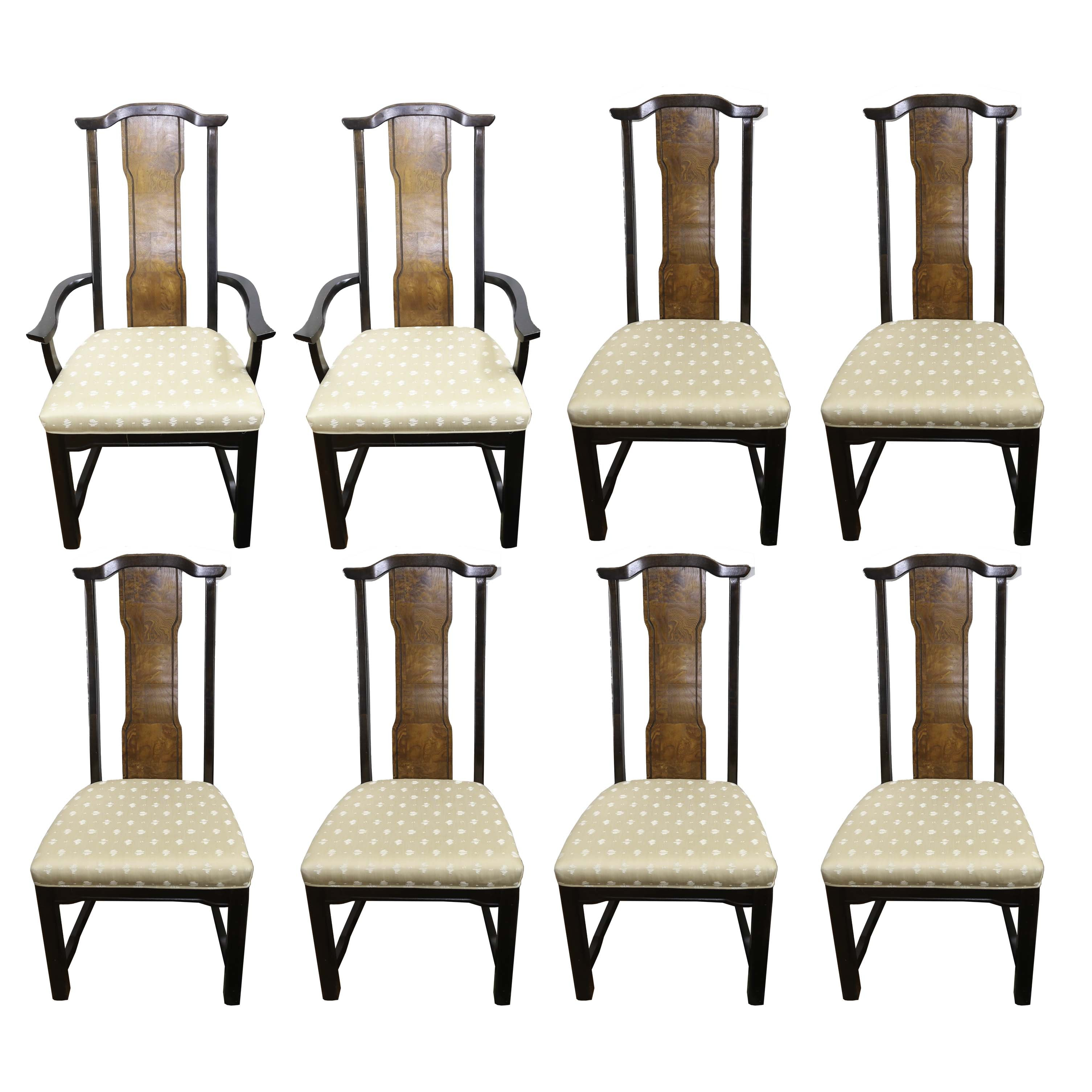 High Back Ming Style Dining Chairs by Broyhill Furniture