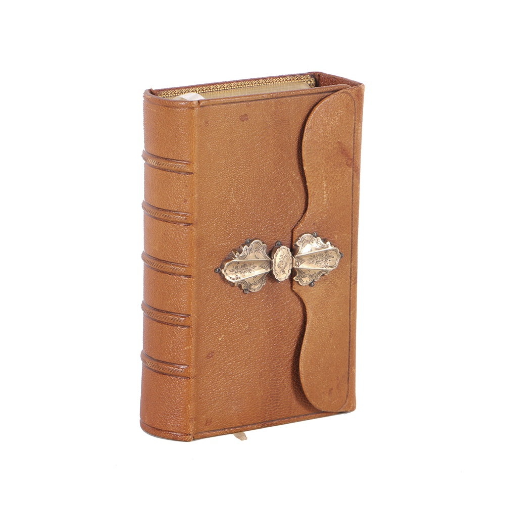 Late 19th Century Dutch Psalm Book with 14K Gold Clasp
