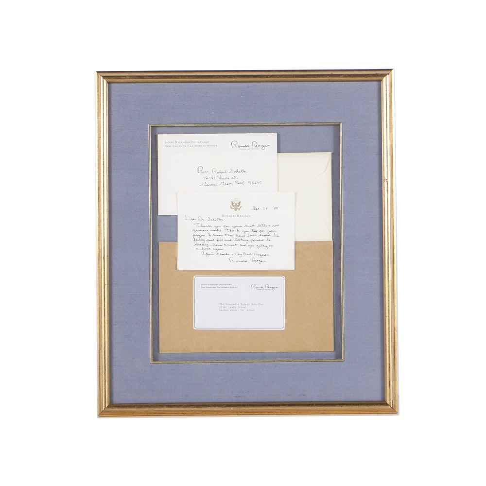1989  Framed  Letter From Ronald Reagan to Dr. Schuller
