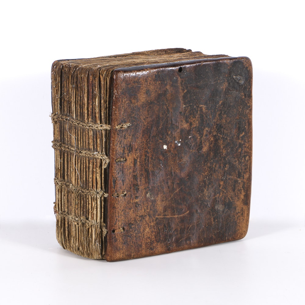 19th Century Ethiopian Prayer Book with Wood Cover Boards