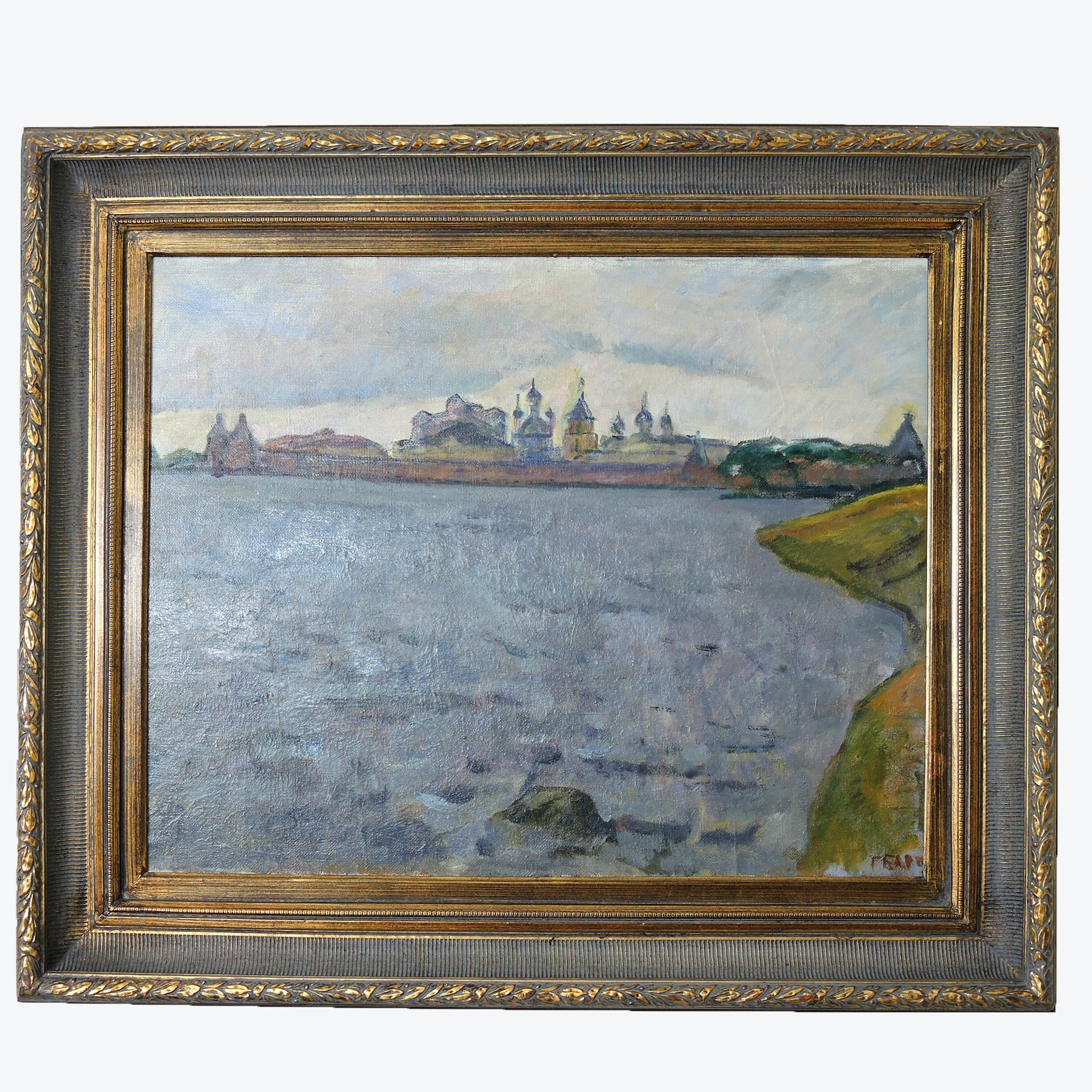 Original Painting of Solovetsky Monastery by G. Barsch