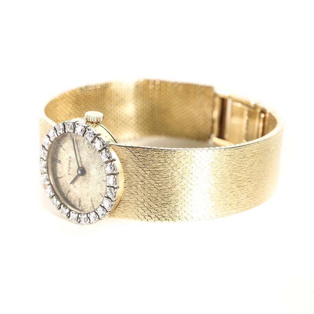 18K Yellow Gold Diamond Eterna Wristwatch