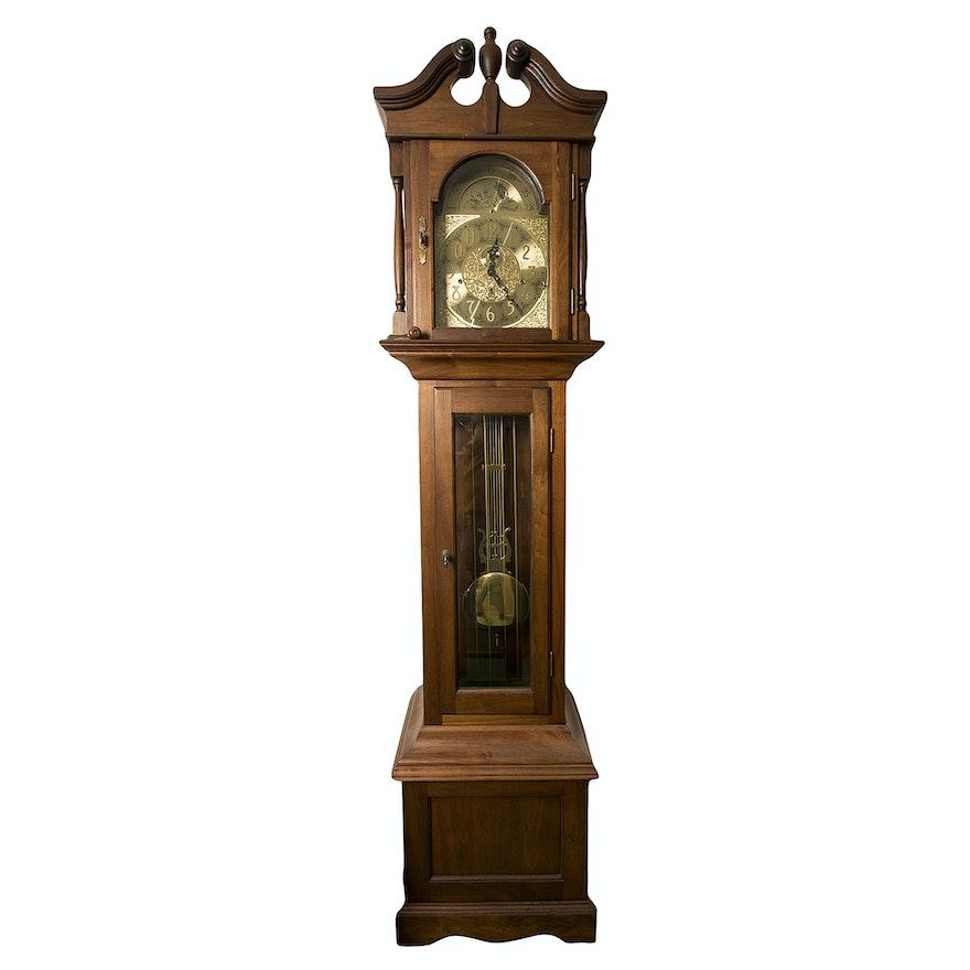 Vintage Viking Moon Phase Grandfather Clock