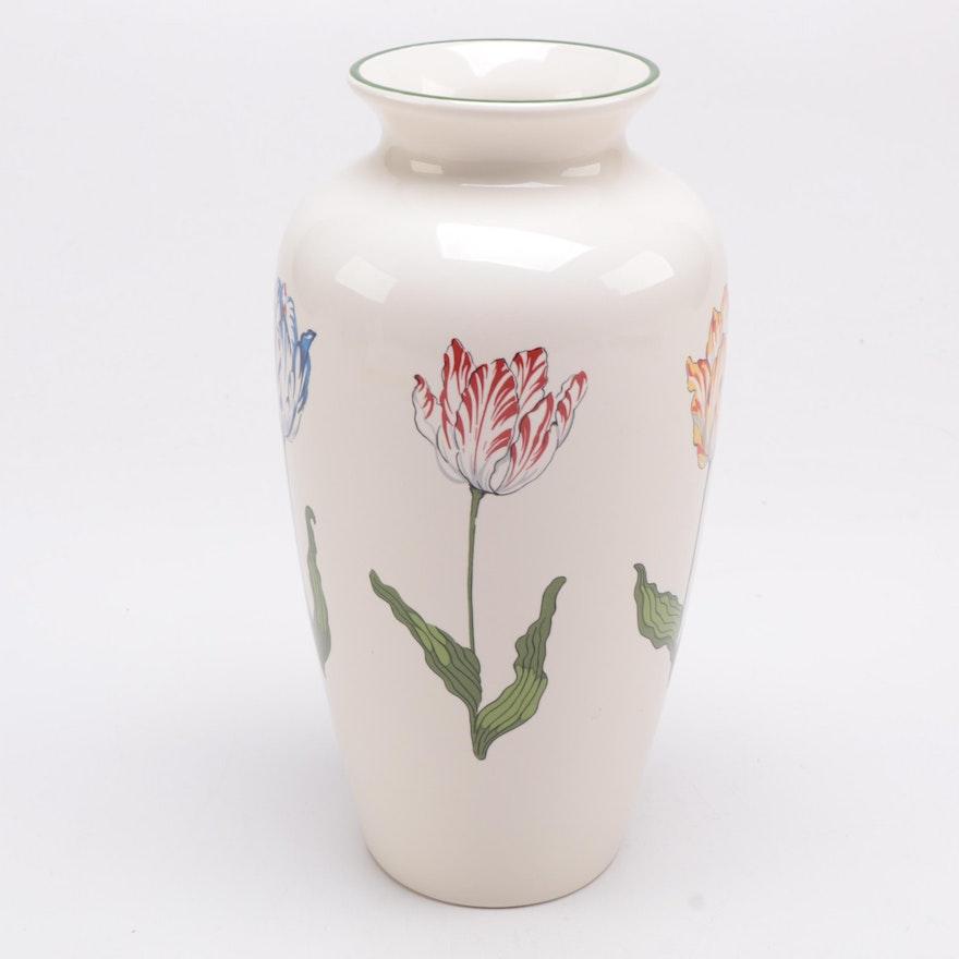 Tiffany Tulips Ceramic Vase By Tiffany Co Ebth