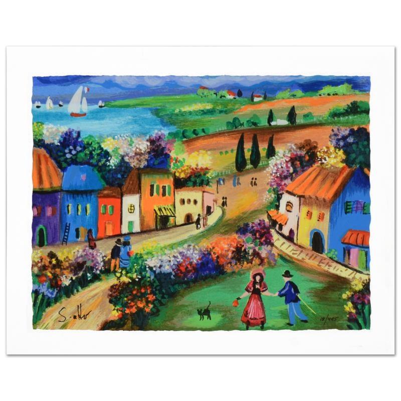 "Shlomo Alter ""The Village"" Limited Edition Serigraph"