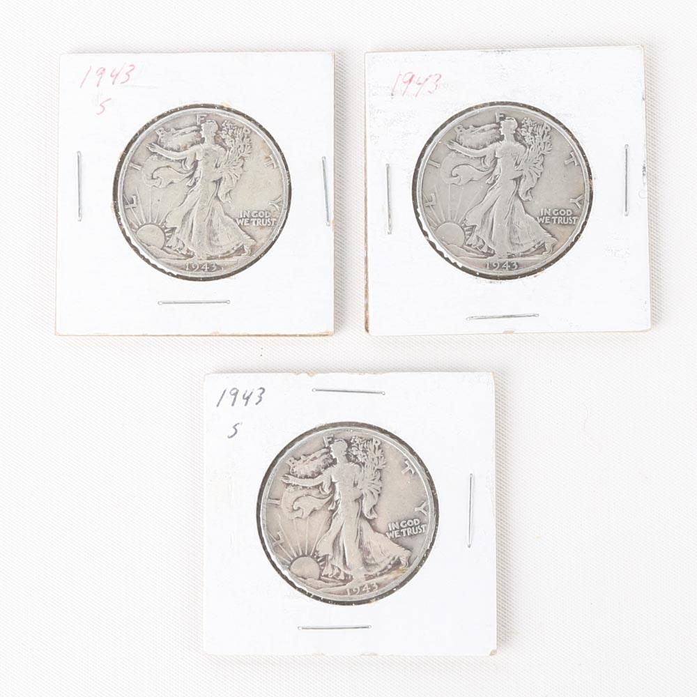 1943 and 1943-S Walking Liberty Half Dollars