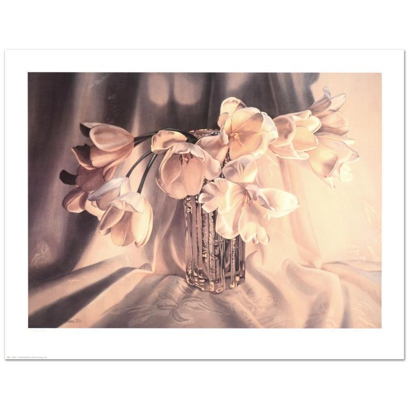 "Barbara Buer ""Tulips"" Limited Edition Lithograph"