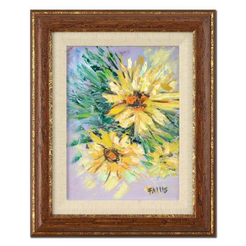 "Elliot Fallas ""Daisy, Daisy!"" Framed Original Oil Painting on Canvas"
