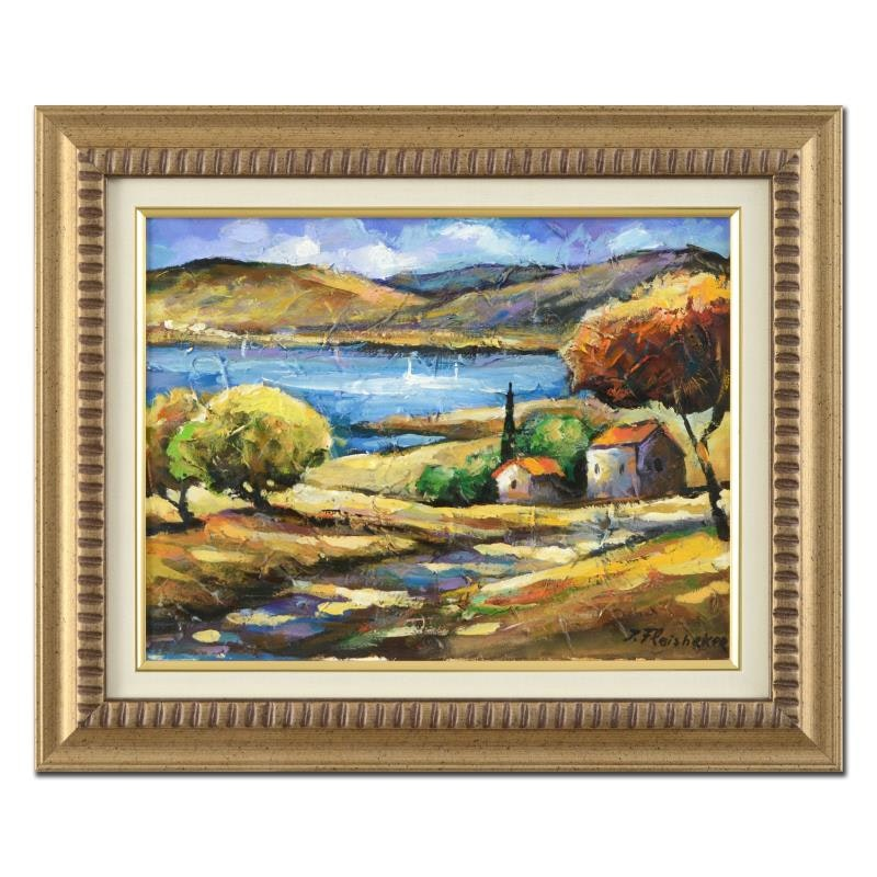 Itzchak Fleisheker Framed Original Oil Painting on Canvas