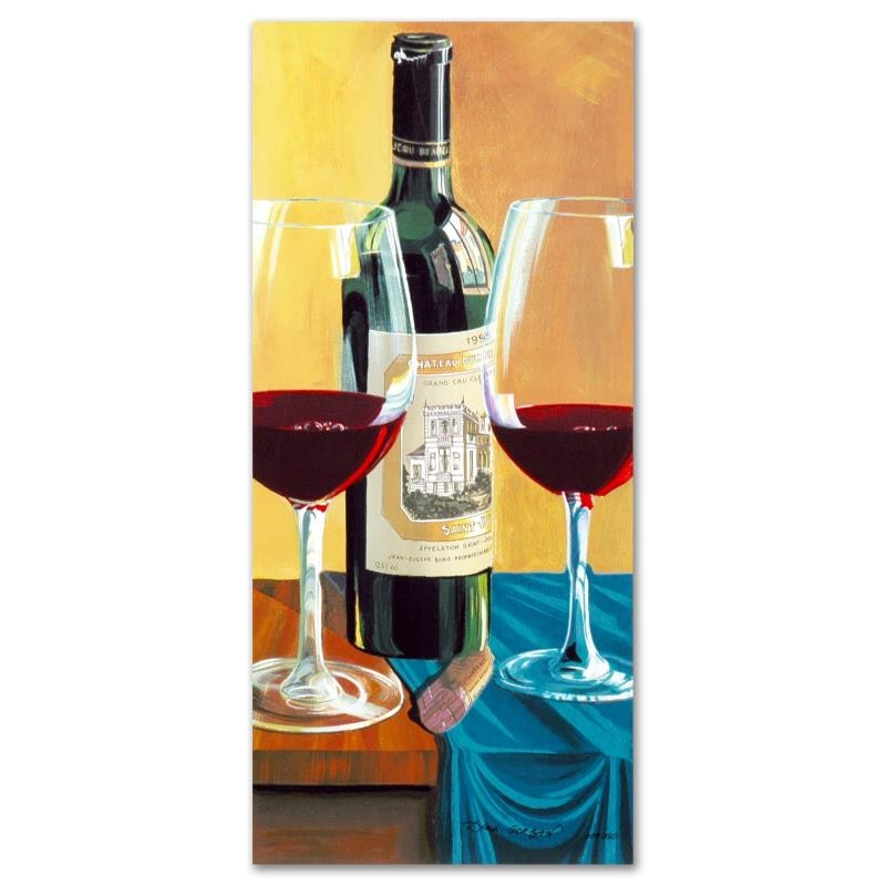"Dima Gorban Limited Edition Serigraph ""Wine For Two"""