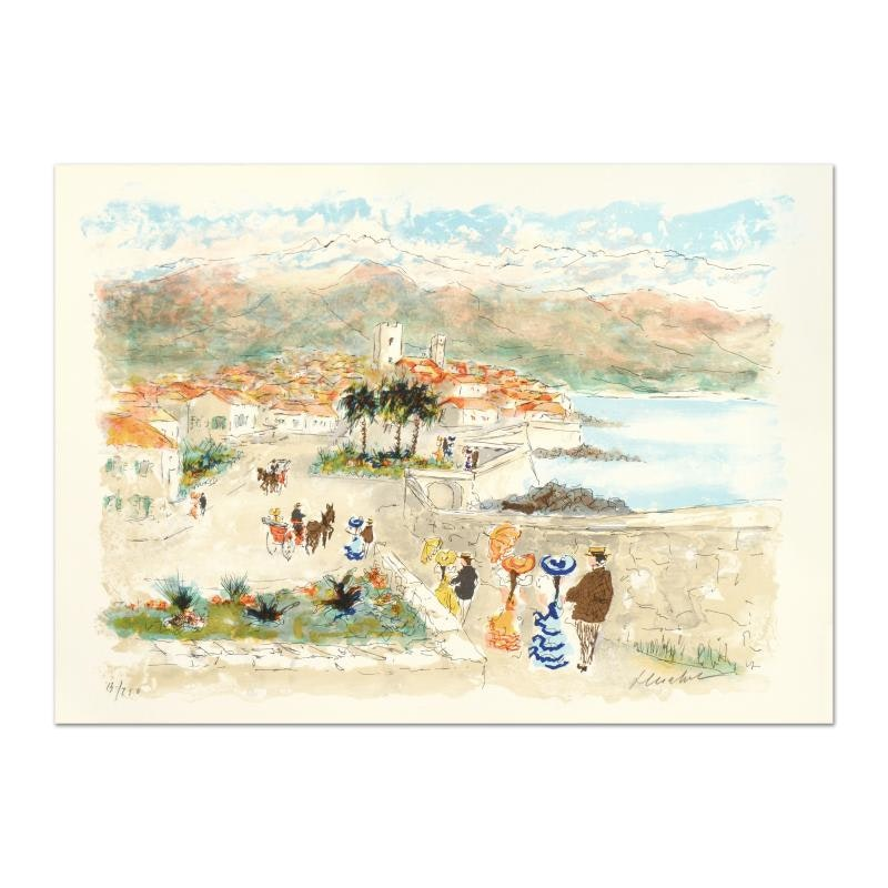 "Urbain Huchet Limited Edition Signed Lithograph ""Seaside"""