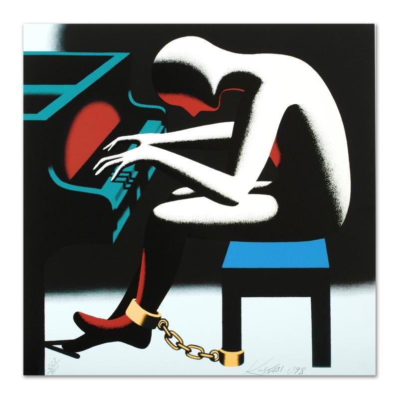"Mark Kostabi ""I Did It Steinway"" Limited Edition Serigraph"