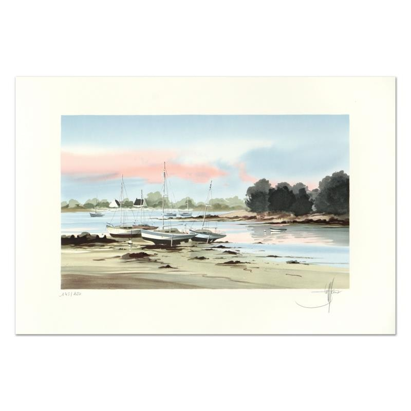 """Stephane Lauro """"Harbor Side 1"""" Limited Edition Lithograph"""