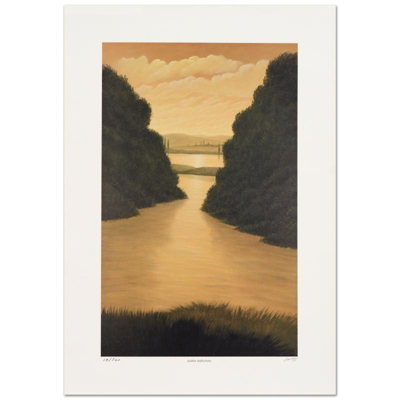 "Steven Lavaggi ""Golden Reflections"" Limited Edition Lithograph"