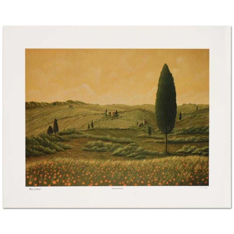 "Steven Lavaggi Limited Edition Lithograph on Paper titled ""Tuscan Vision"""