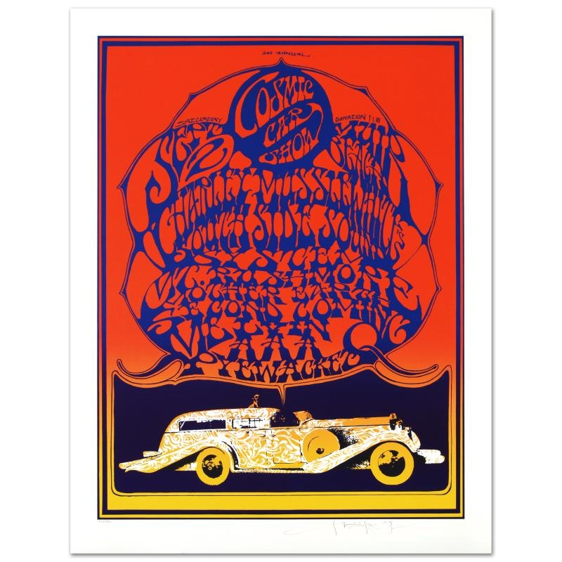 "Stanley Mouse ""Cosmic Car Show"" Limited Edition Lithograph"