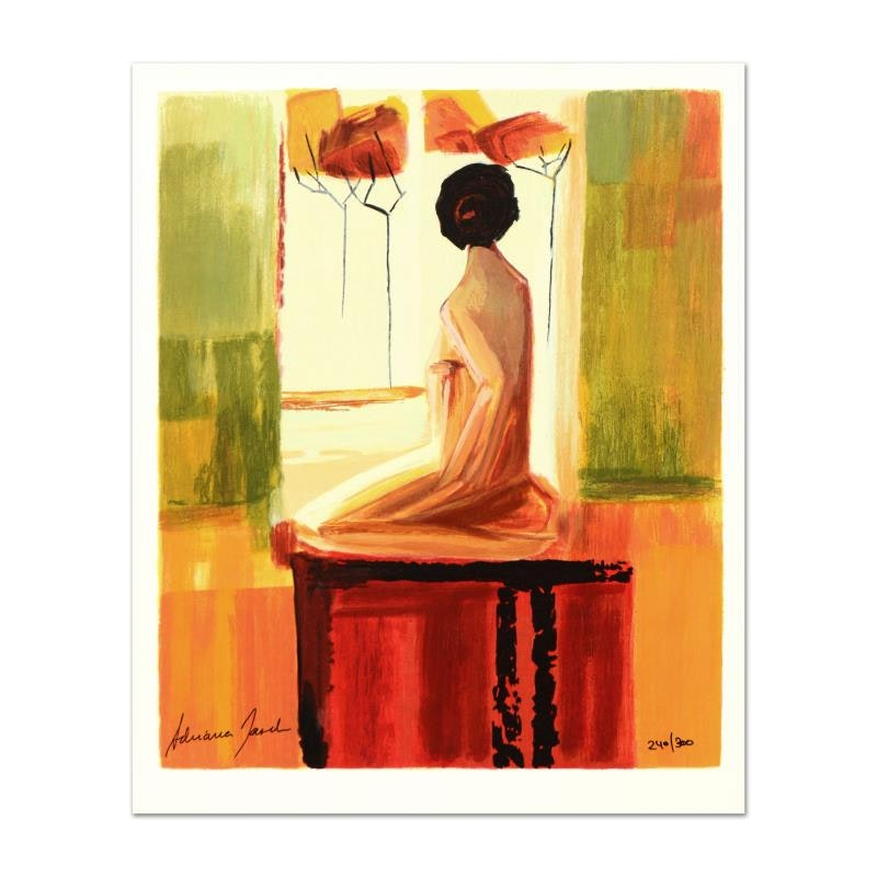 """Adriana Naveh """"Contemplation"""" Limited Edition Lithograph"""