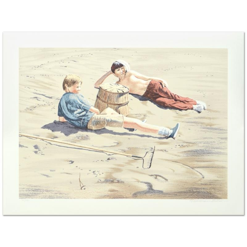 """William Nelson """"The Beach Combers"""" Limited Edition Serigraph"""