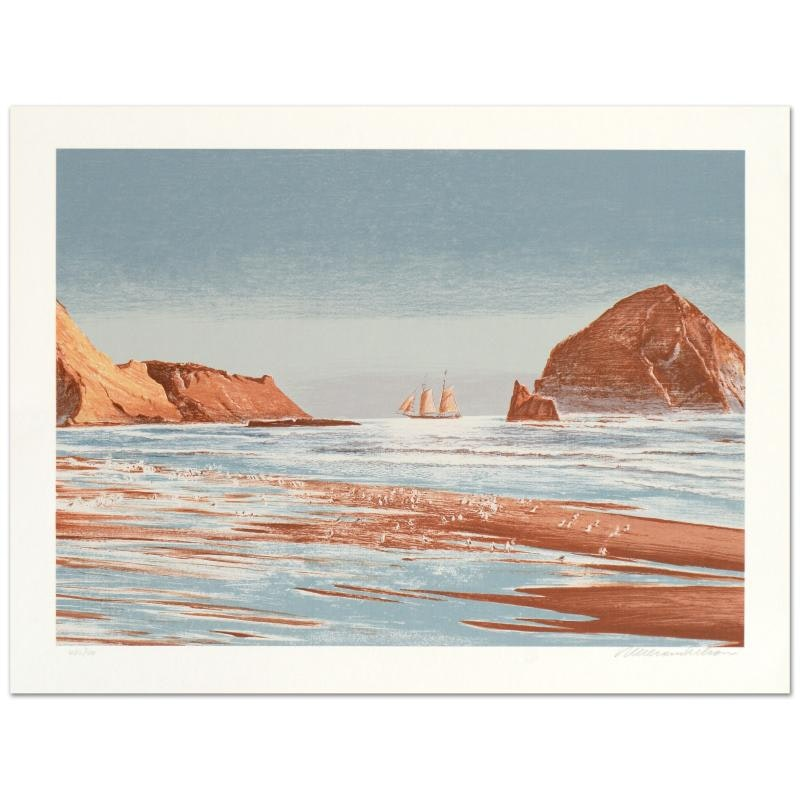 """William Nelson """"Sailing The Coast"""" Limited Edition Serigraph"""
