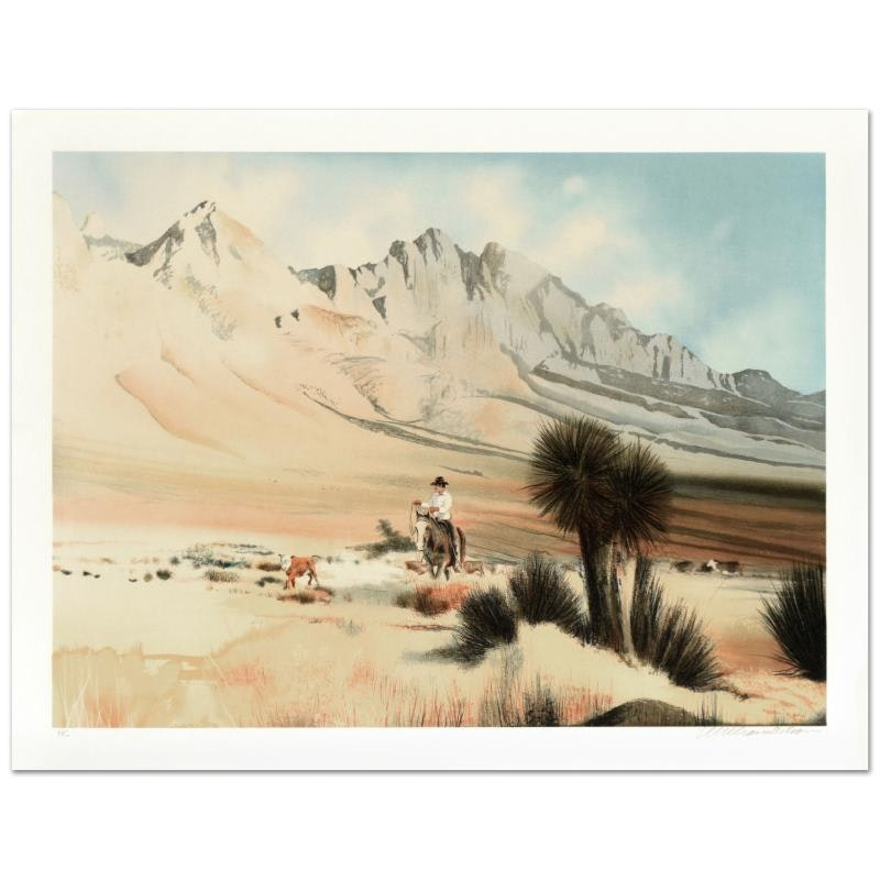 "William Nelson ""The Dogie"" Limited Edition Lithograph"