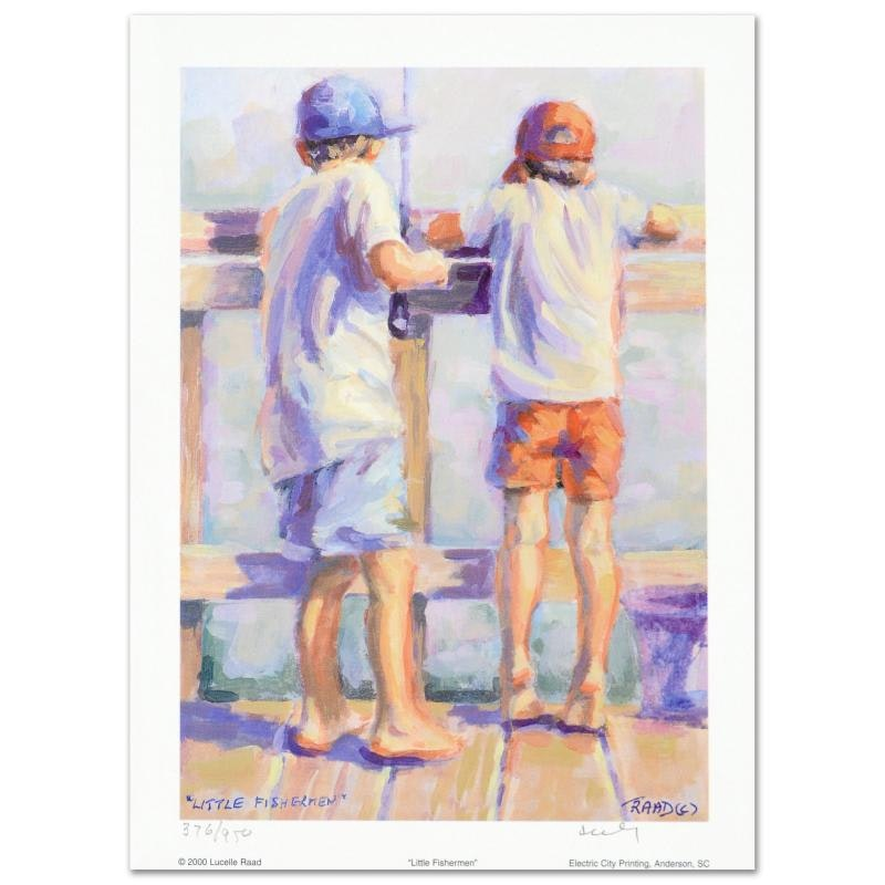 "Lucelle Raad ""Little Fishermen"" Limited Edition Lithograph"