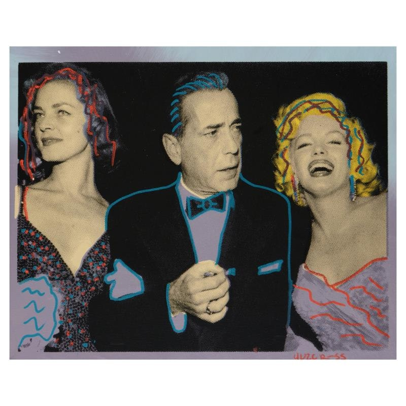 """Ringo """"Marilyn, Bogart, and Bacall"""" Mixed Media Painting on Canvas"""