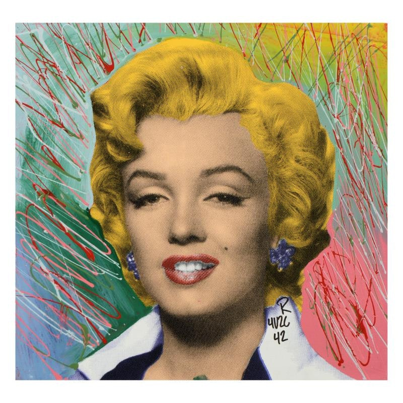 "Ringo ""Marilyn Classic (Blonde)"" Mixed Media Painting on Canvas"