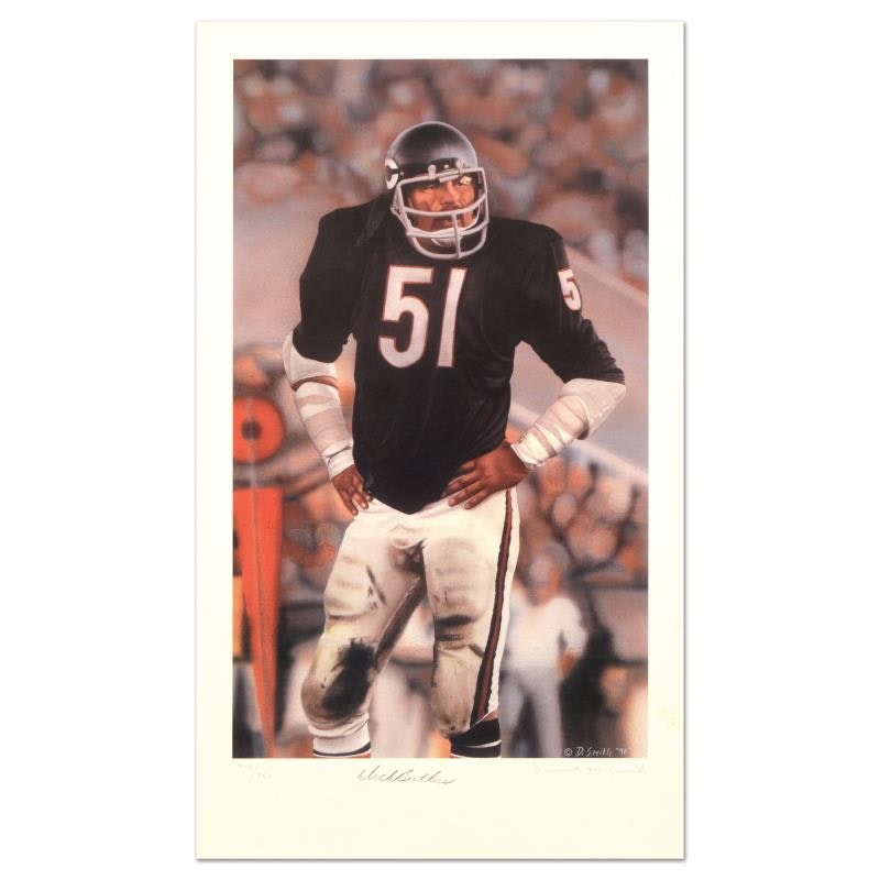"""Daniel M. Smith """"Dick Butkus"""" Limited Edition Lithograph"""