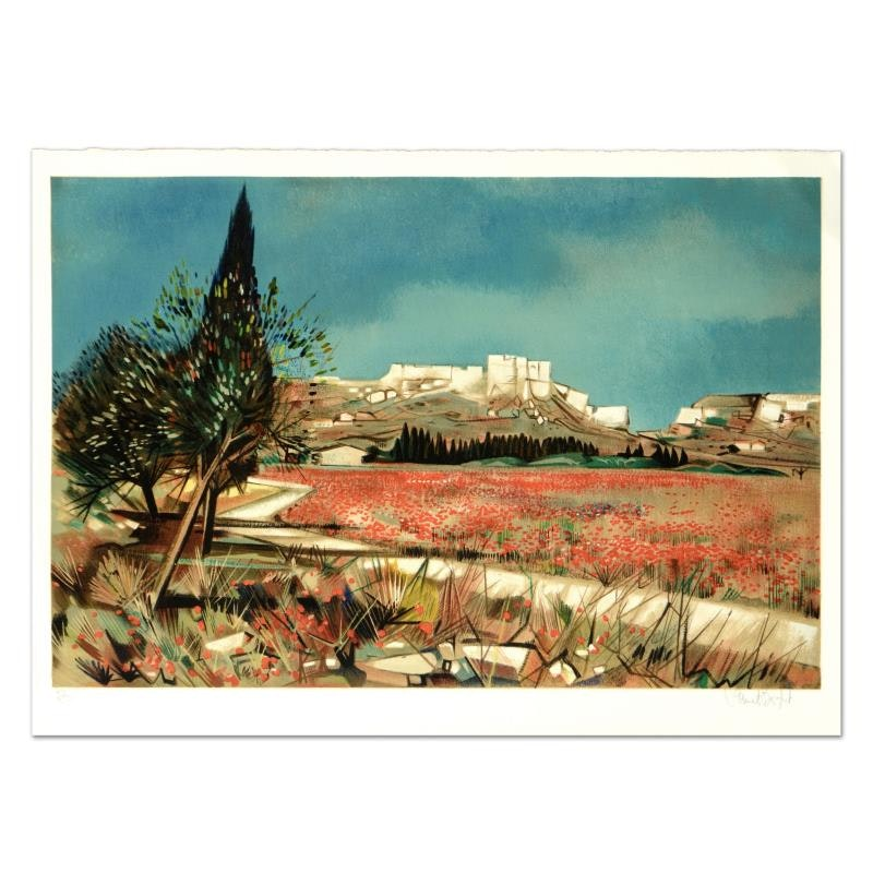 "Robert Vernet Bonfort ""Baux"" Limited Edition Lithograph"