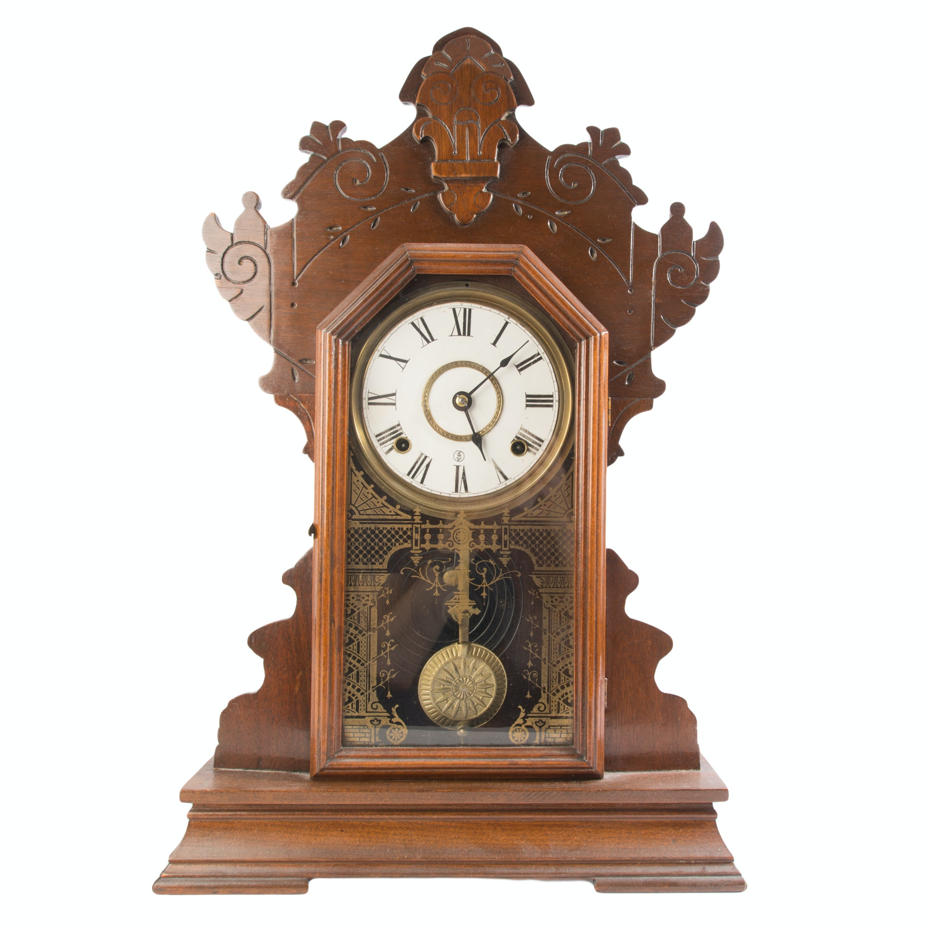 Antique Sessions Gingerbread Kitchen Clock