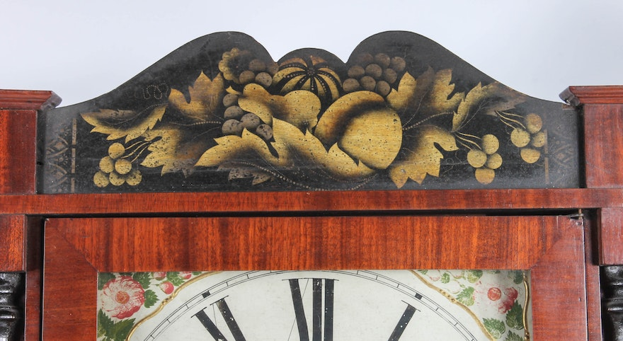 Antique Jeromes And Darrow Wall Clock Ebth