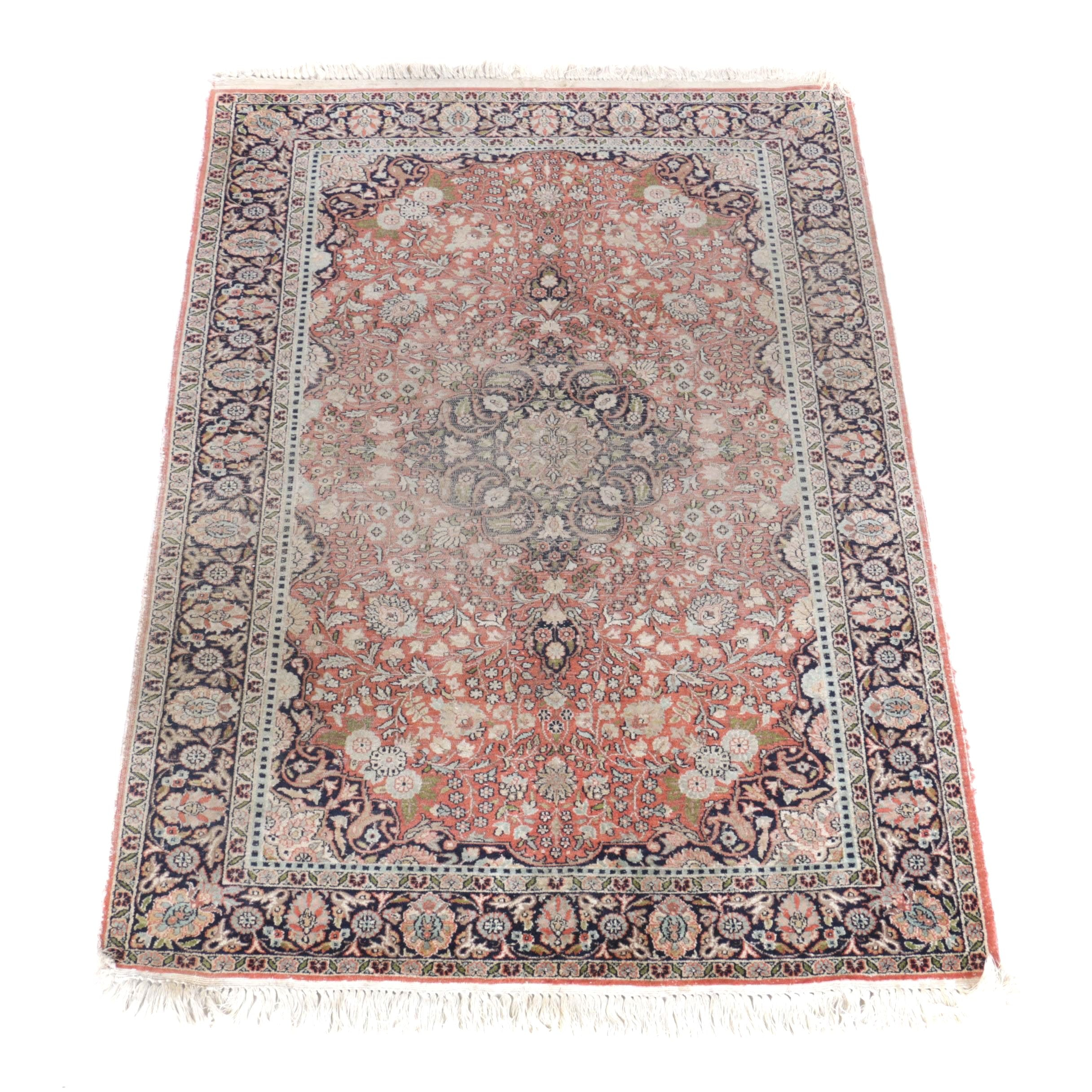 Hand-Knotted Tabriz Wool Area Rug