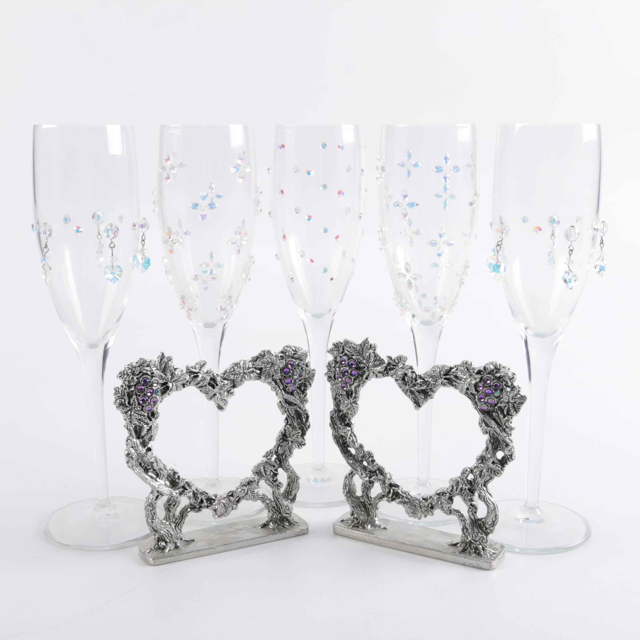 Champagne Flutes and Picture Frames