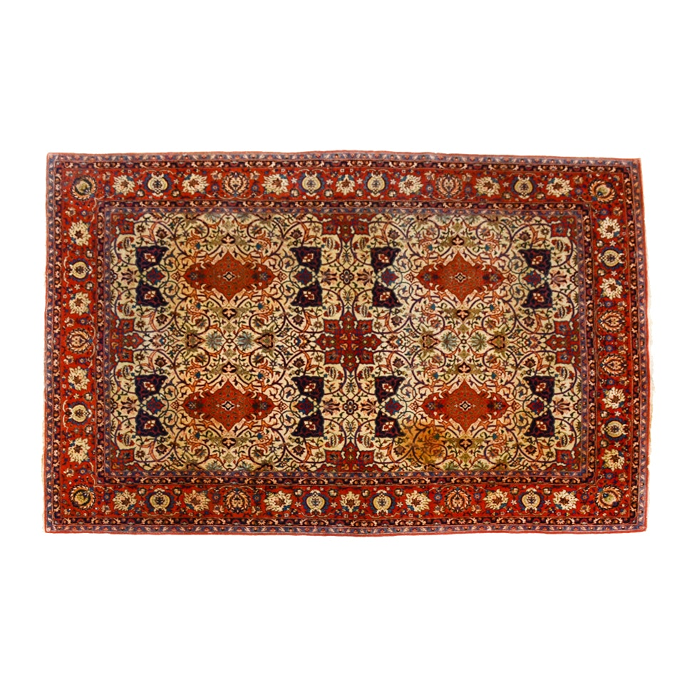Persian Bidjar Style Hand-Knotted Wool Room Size Area Rug