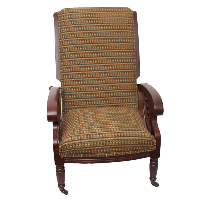 Vintage Empire Style Reclining Armchair
