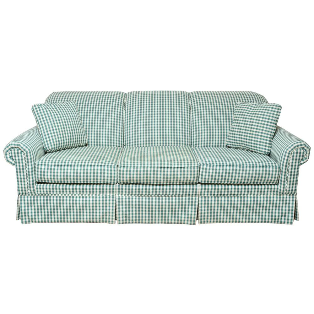 Broyhill Green Checkered Sofa ...