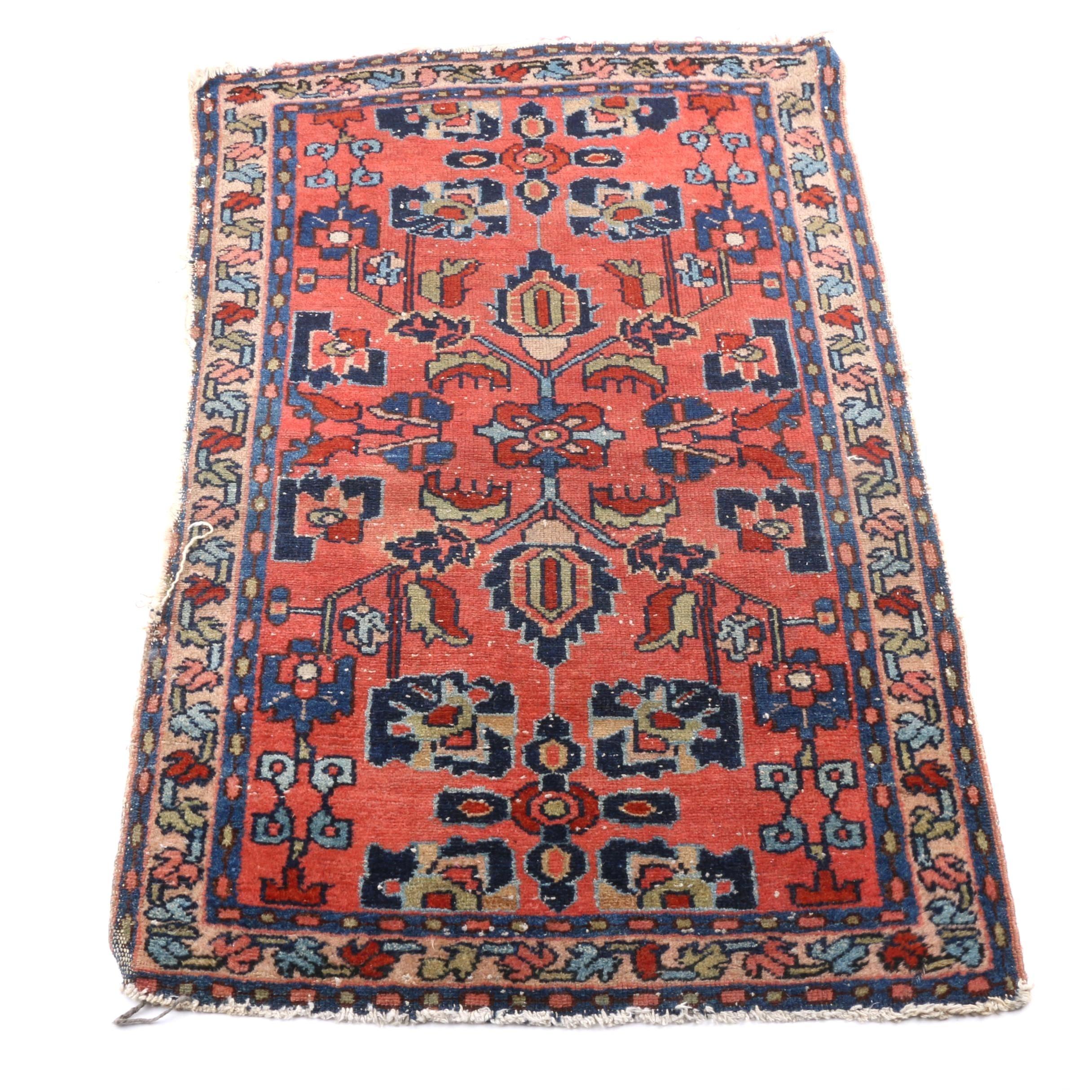 Small Semi-Antique Persian Hand Woven Rug
